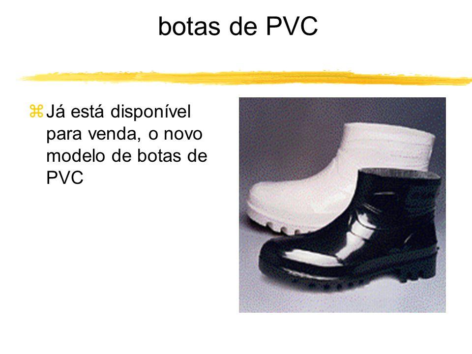 botas de PVC Já está disponível para venda, o novo modelo de botas de PVC