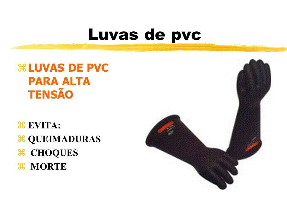 Luvas de pvc LUVAS DE PVC PARA ALTA TENSÃO EVITA: QUEIMADURAS CHOQUES