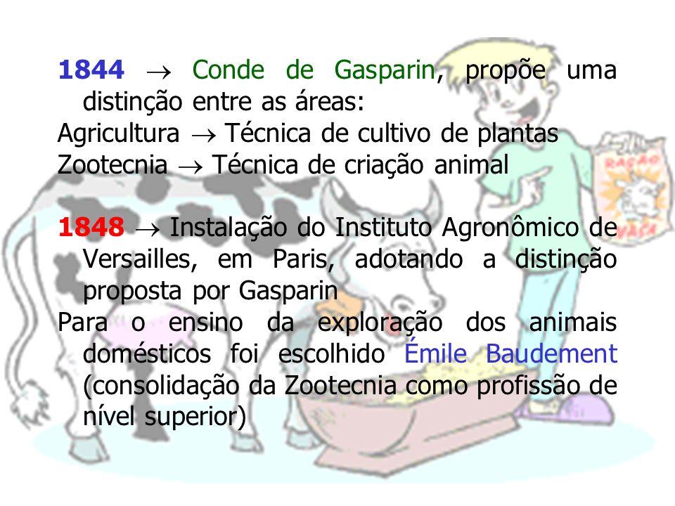 1844  Conde de Gasparin, propõe uma distinção entre as áreas: