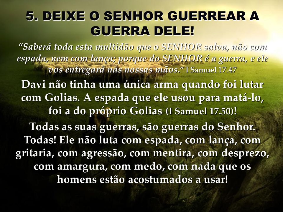 5. DEIXE O SENHOR GUERREAR A GUERRA DELE!