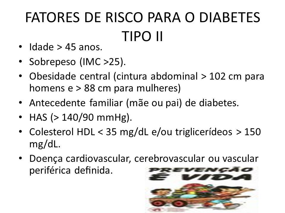 FATORES DE RISCO PARA O DIABETES TIPO II