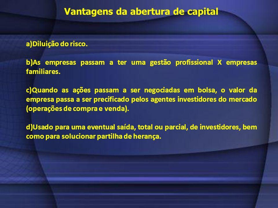 Vantagens da abertura de capital