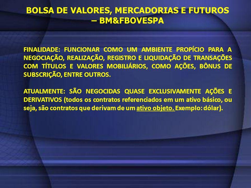BOLSA DE VALORES, MERCADORIAS E FUTUROS – BM&FBOVESPA