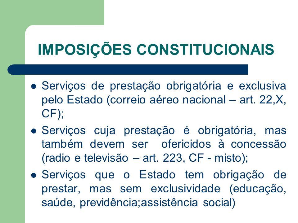 IMPOSIÇÕES CONSTITUCIONAIS