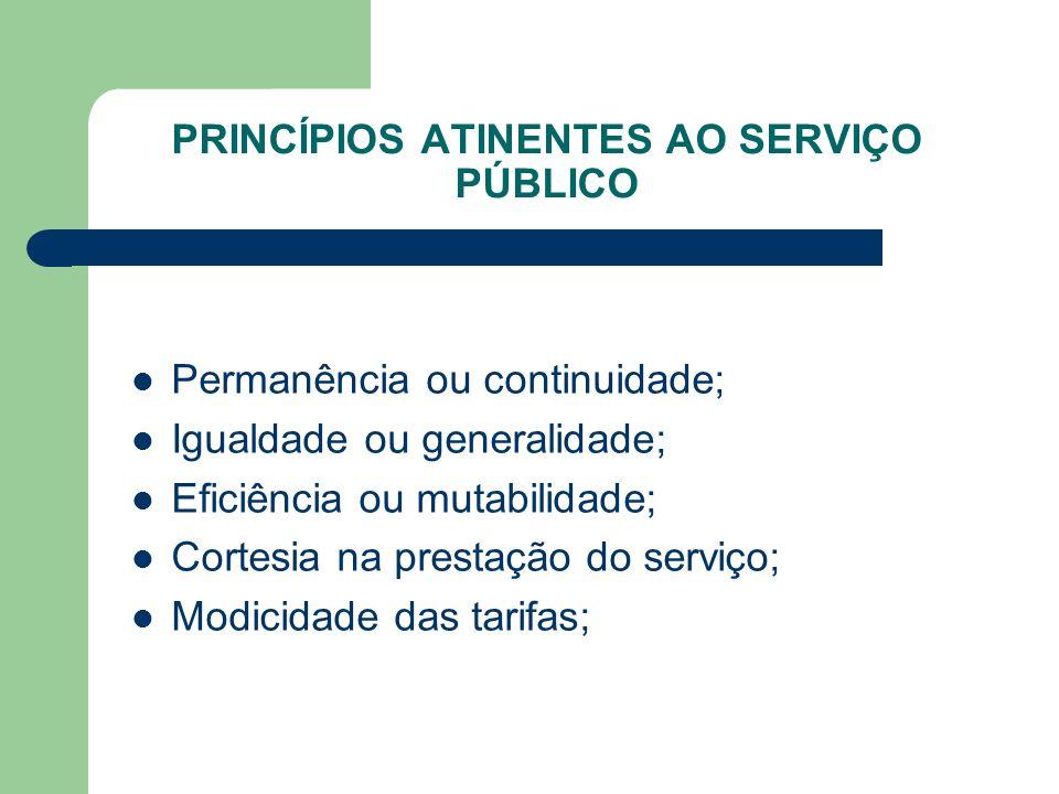 PRINCÍPIOS ATINENTES AO SERVIÇO PÚBLICO