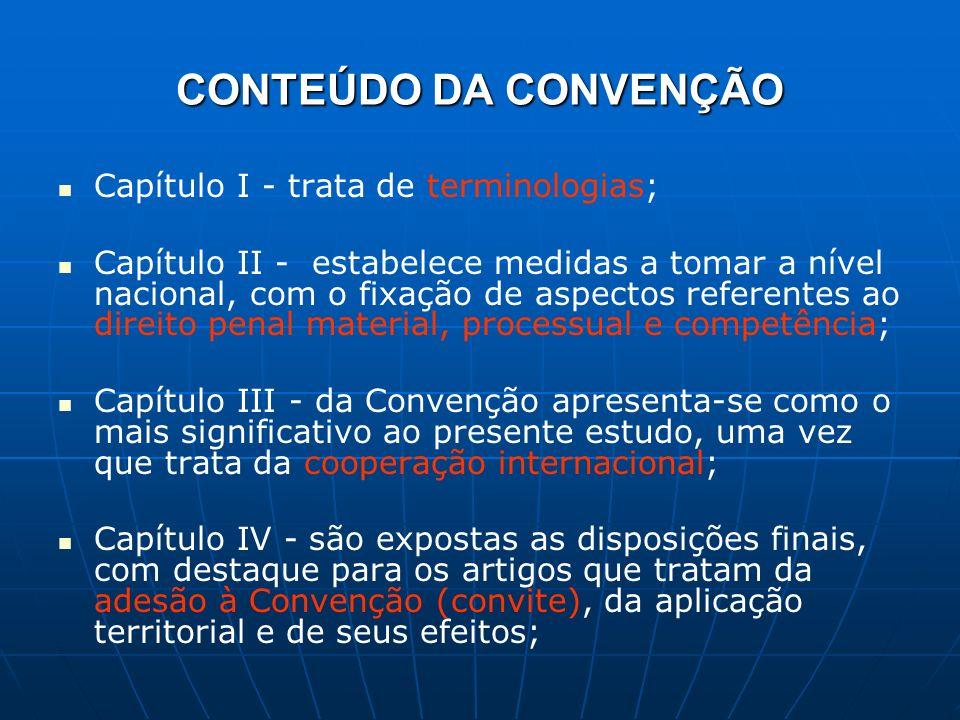 CONTEÚDO DA CONVENÇÃO Capítulo I - trata de terminologias;