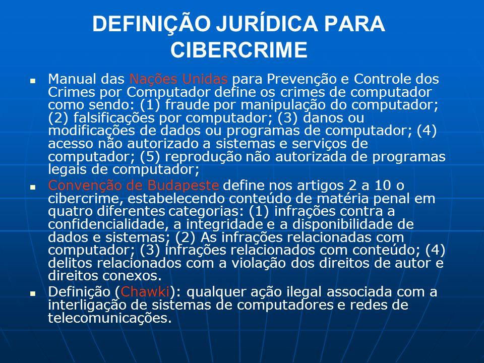 DEFINIÇÃO JURÍDICA PARA CIBERCRIME