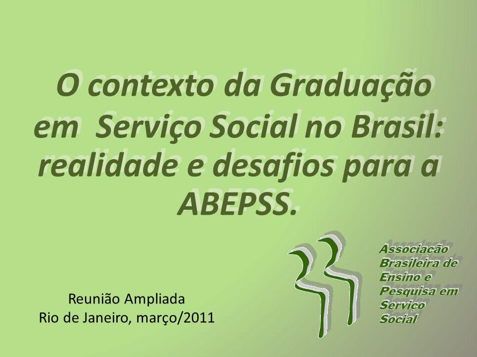O contexto da Graduação em Serviço Social no Brasil: realidade e desafios para a ABEPSS.