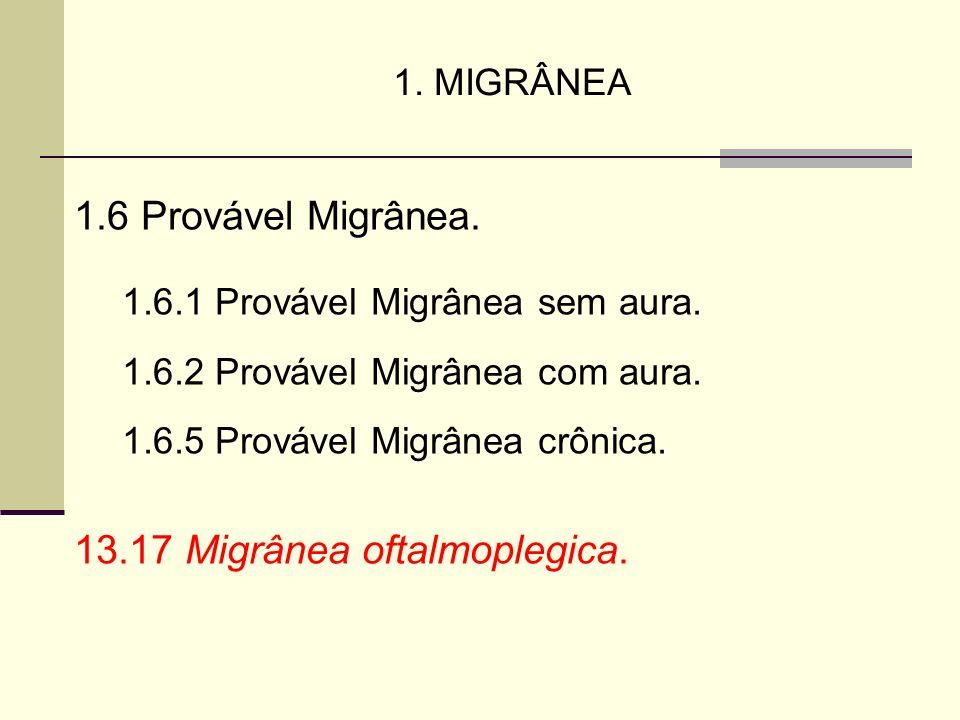 13.17 Migrânea oftalmoplegica.