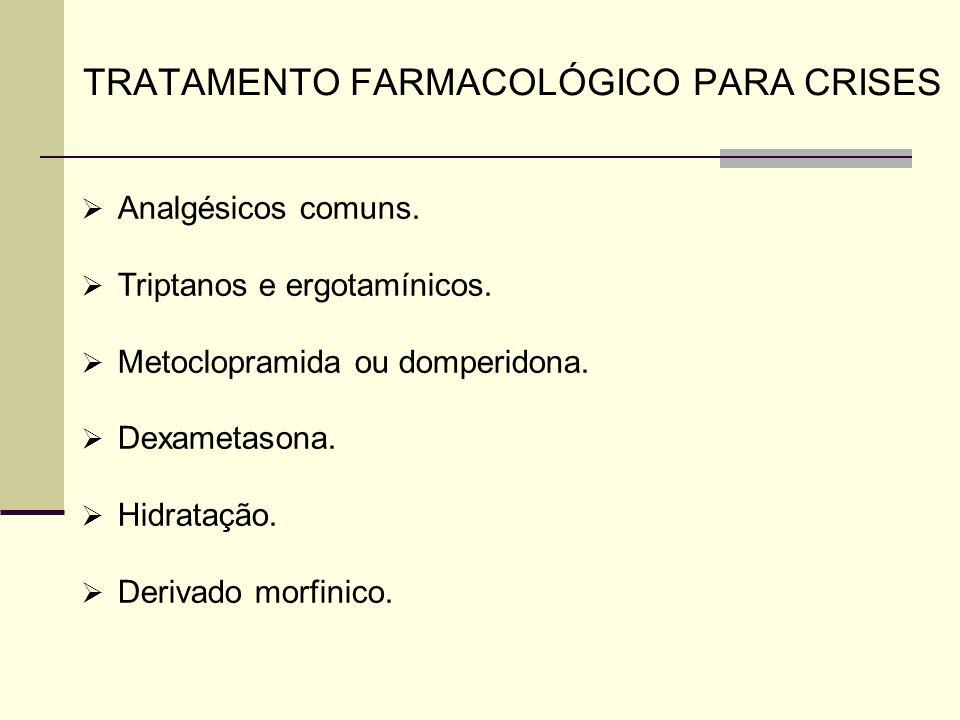 TRATAMENTO FARMACOLÓGICO PARA CRISES