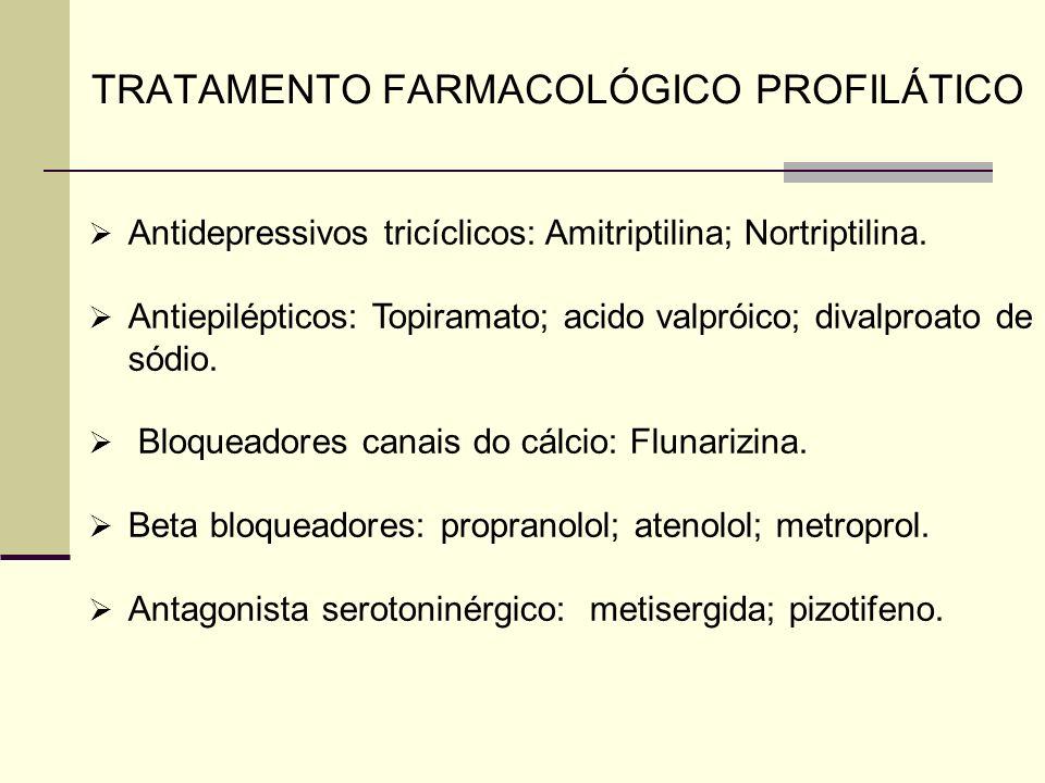 TRATAMENTO FARMACOLÓGICO PROFILÁTICO