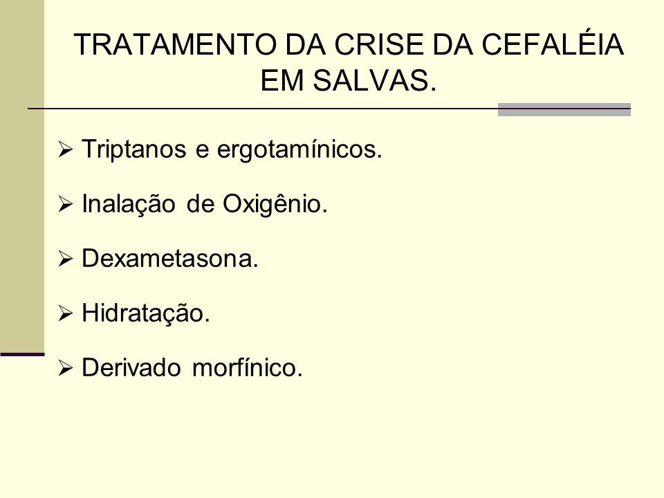 TRATAMENTO DA CRISE DA CEFALÉIA EM SALVAS.