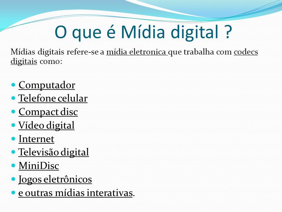 O que é Mídia digital Computador Telefone celular Compact disc