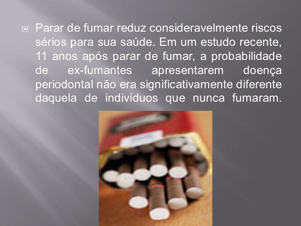 Parar de fumar reduz consideravelmente riscos sérios para sua saúde