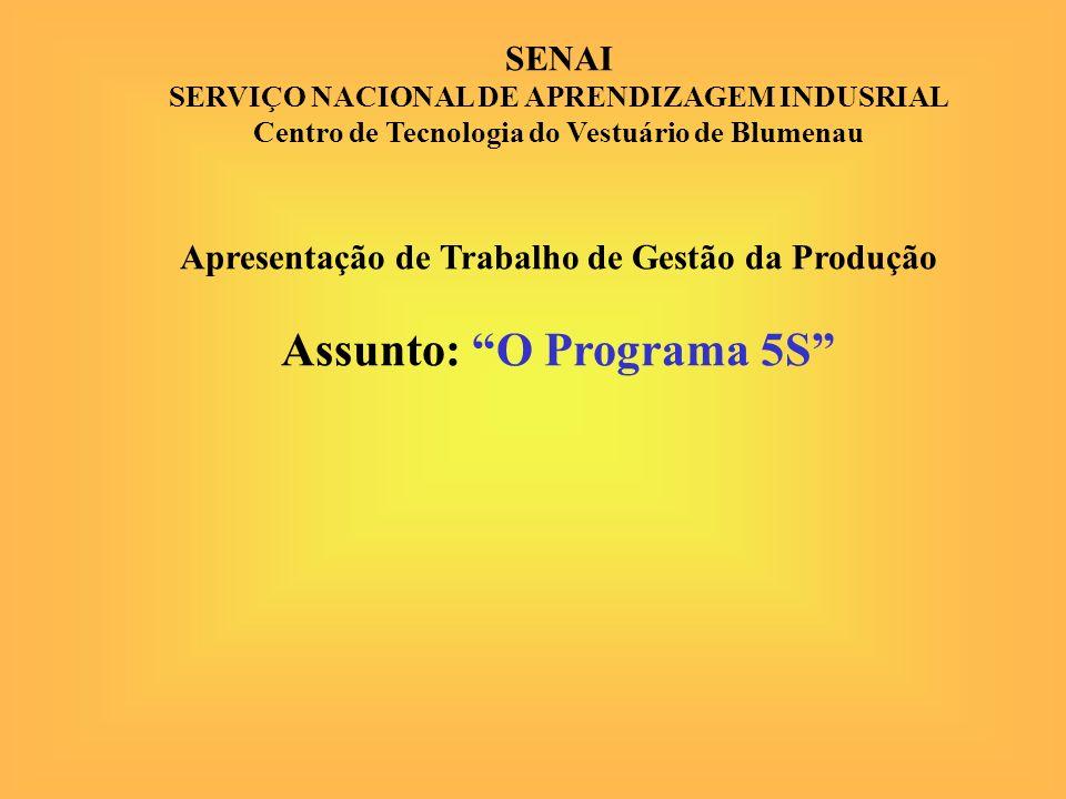 Assunto: O Programa 5S