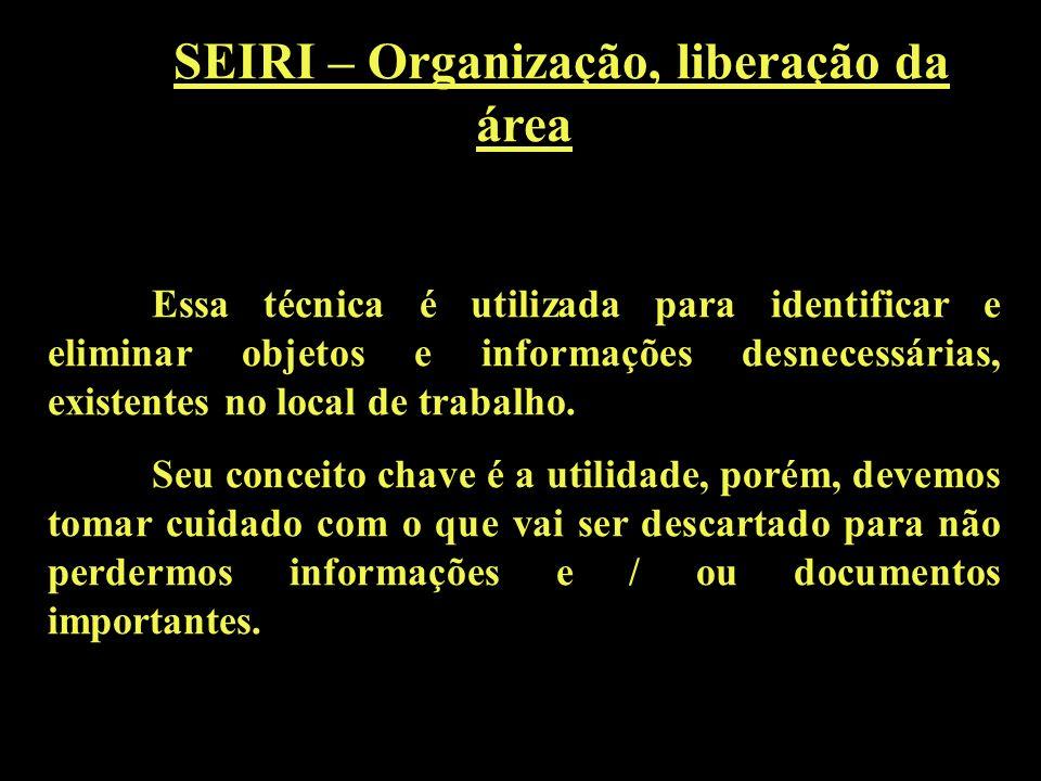SEIRI – Organização, liberação da área