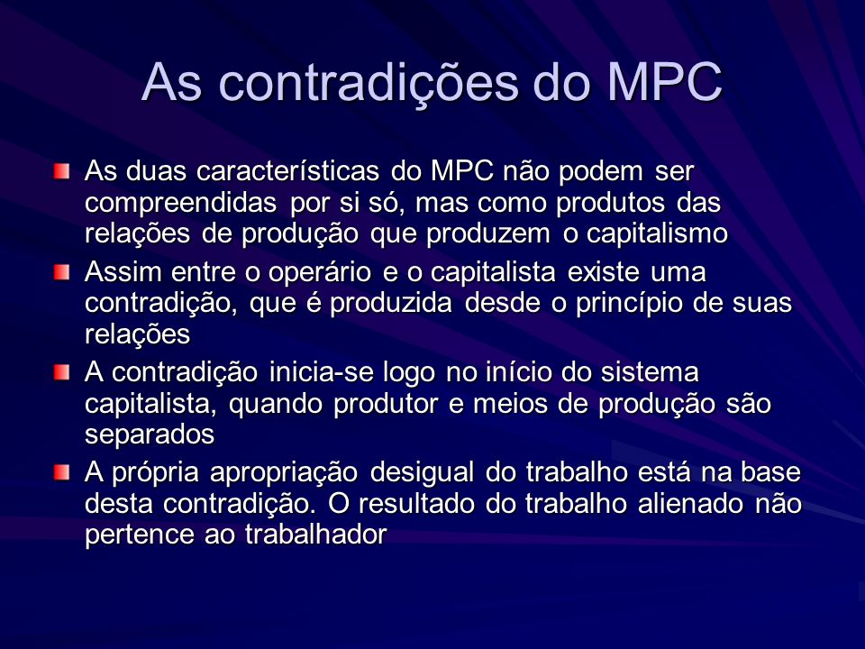 As contradições do MPC