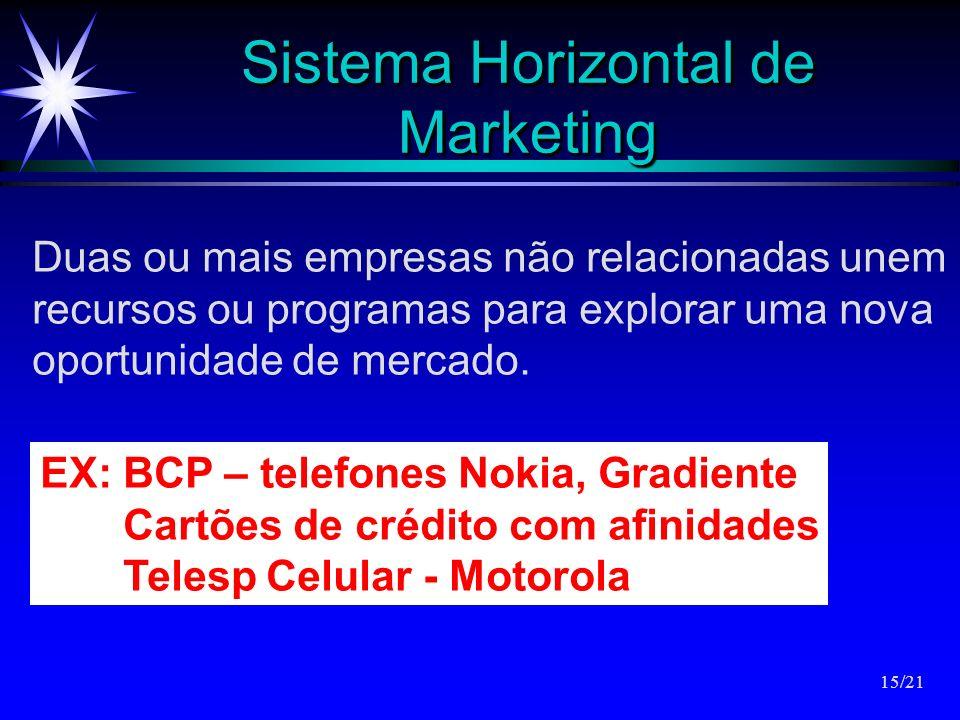 Sistema Horizontal de Marketing