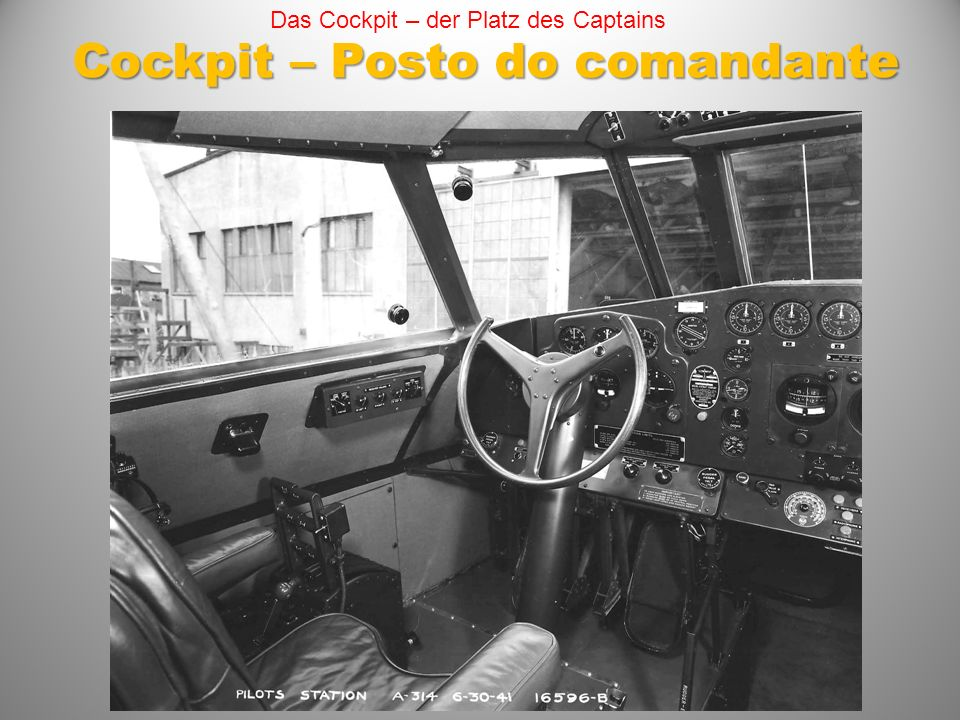 Cockpit – Posto do comandante