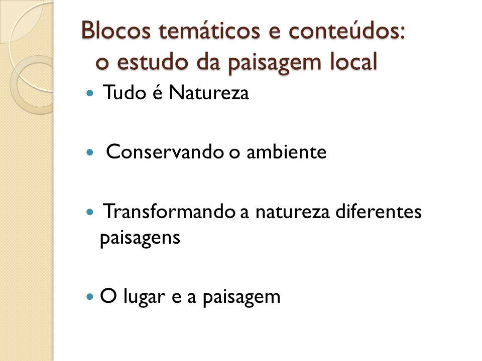 Blocos temáticos e conteúdos: o estudo da paisagem local