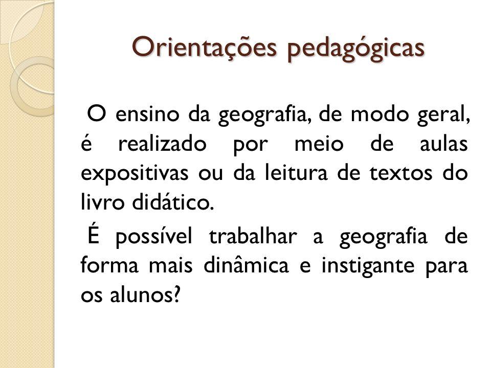 Orientações pedagógicas