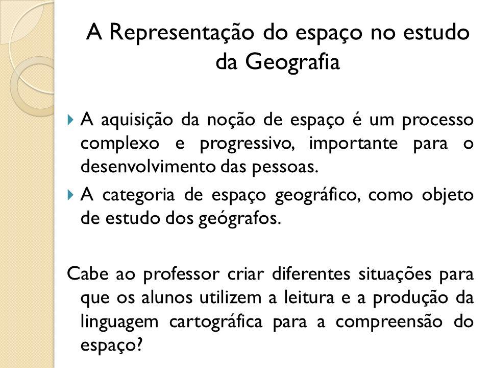 A Representação do espaço no estudo da Geografia