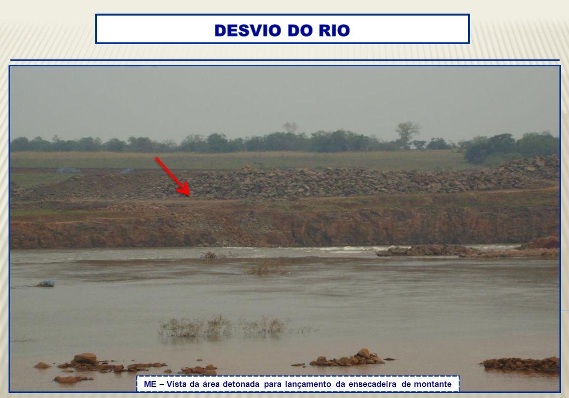 montante de um rio