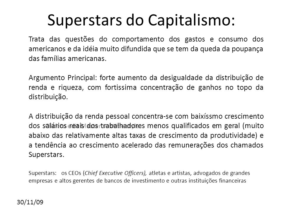 Superstars do Capitalismo: