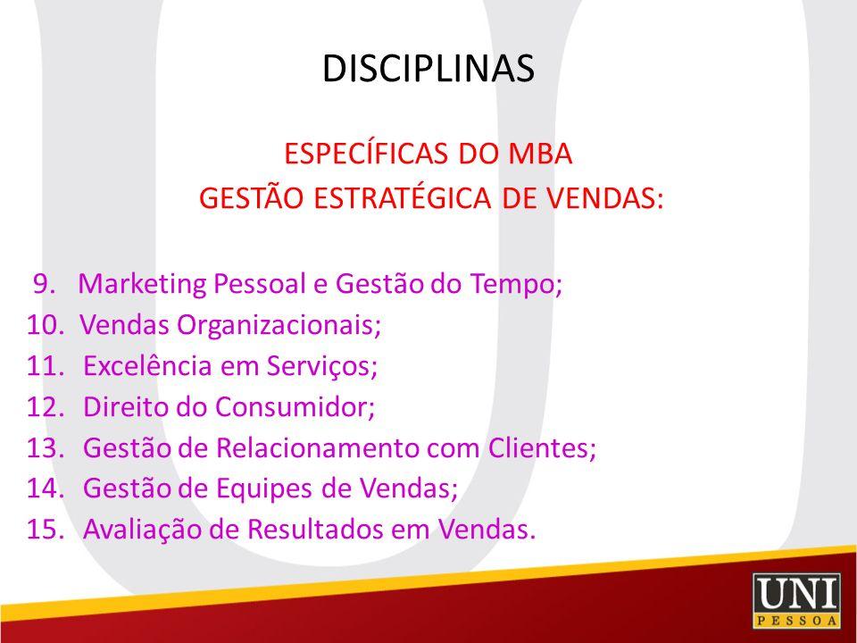 GESTÃO ESTRATÉGICA DE VENDAS:
