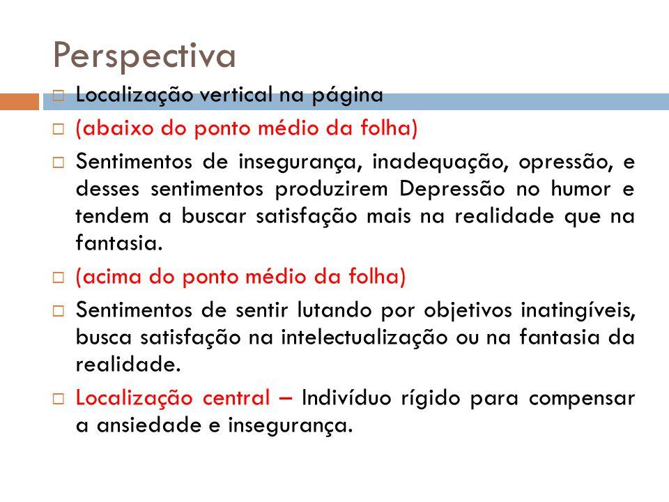 Perspectiva Localização vertical na página