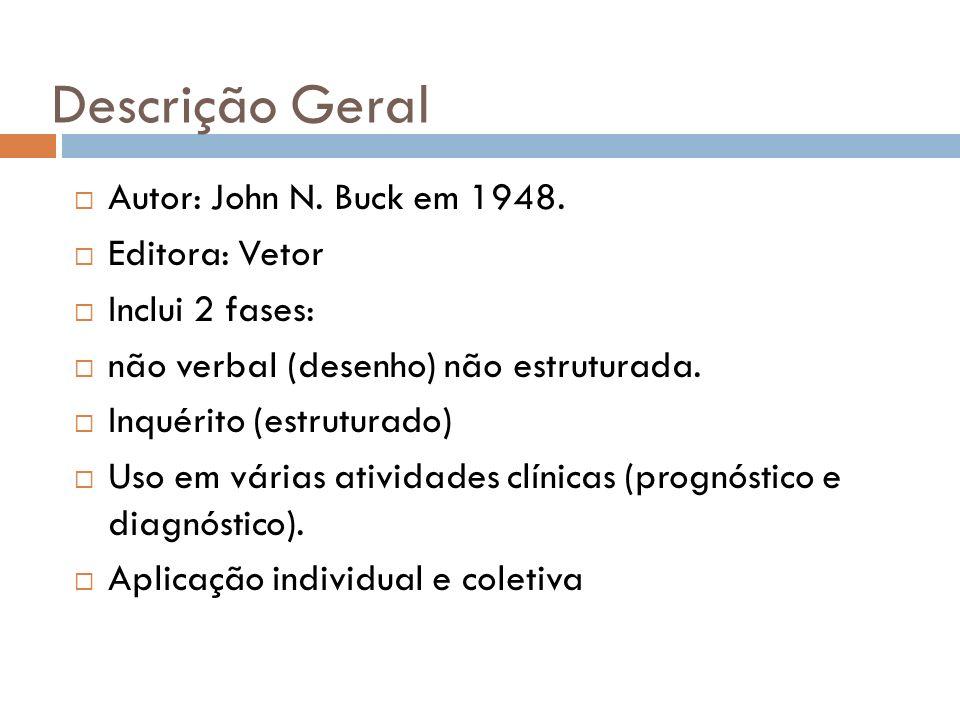 Descrição Geral Autor: John N. Buck em 1948. Editora: Vetor