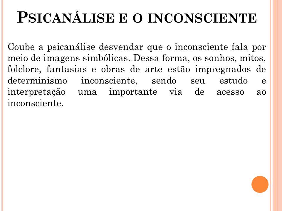 Psicanálise e o inconsciente