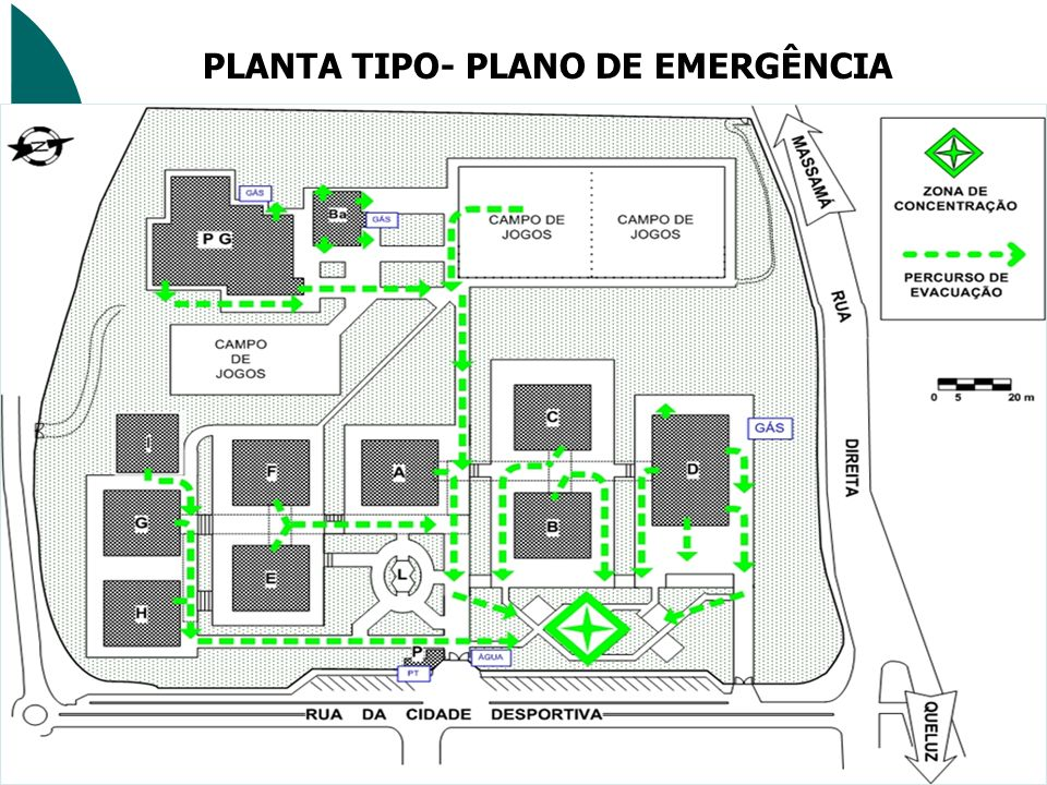 PLANTA TIPO- PLANO DE EMERGÊNCIA