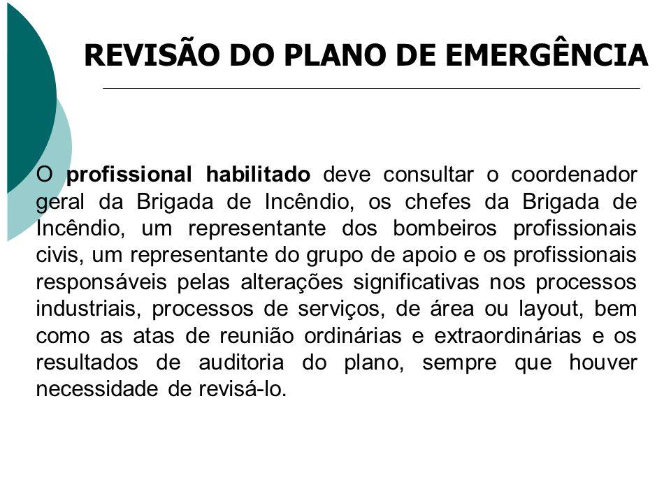 REVISÃO DO PLANO DE EMERGÊNCIA