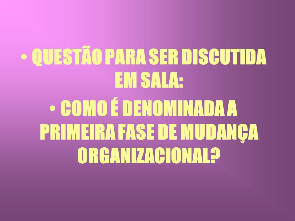 QUESTÃO PARA SER DISCUTIDA EM SALA: