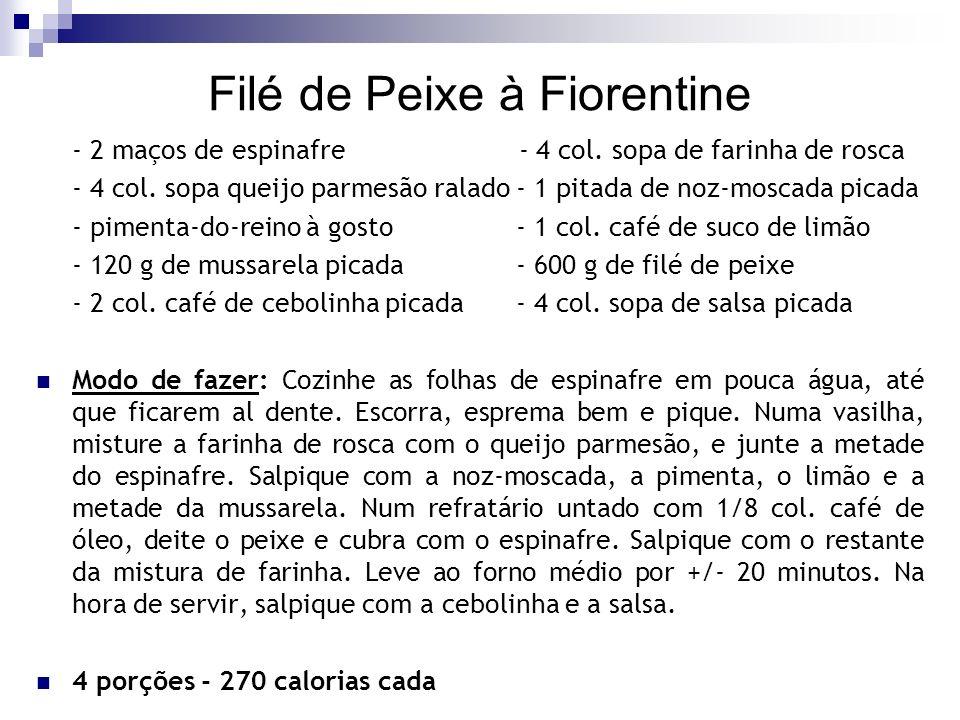 Filé de Peixe à Fiorentine