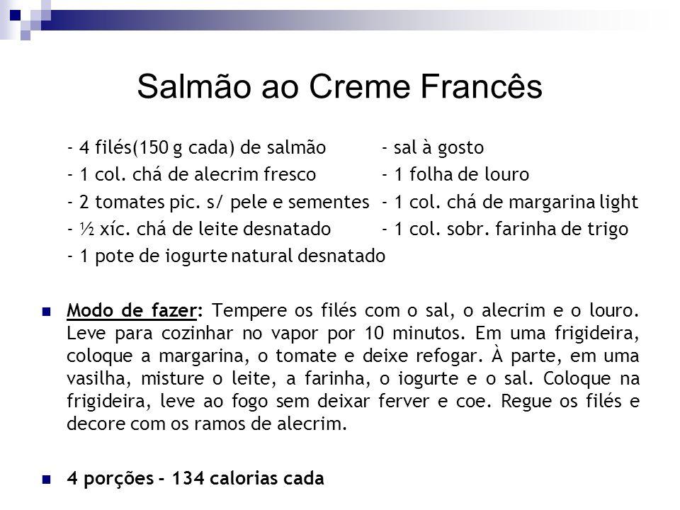 Salmão ao Creme Francês