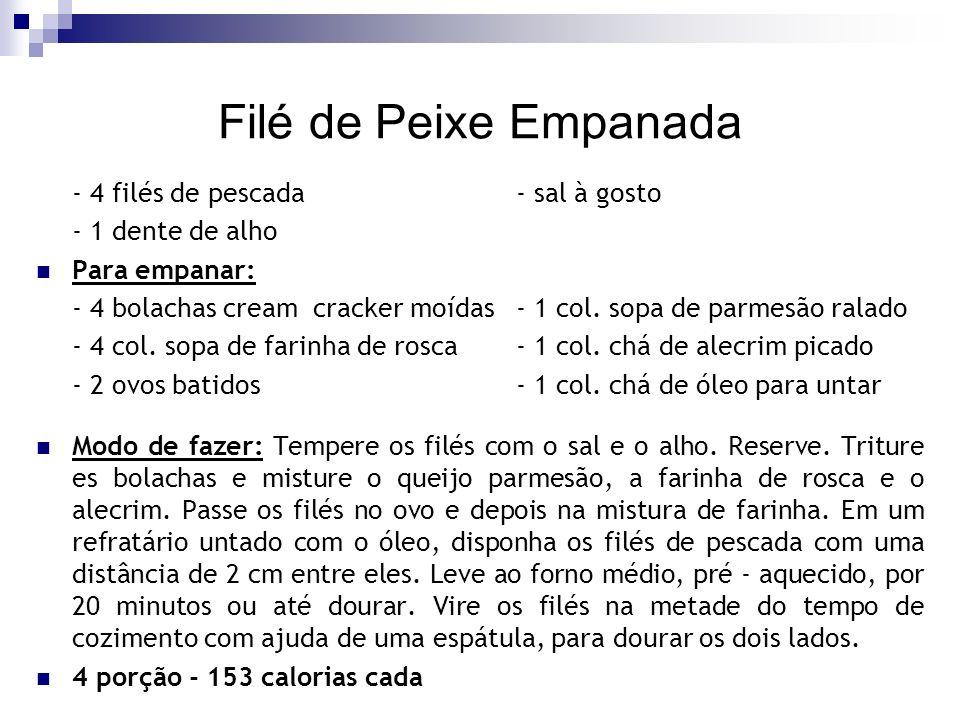 Filé de Peixe Empanada - 4 filés de pescada - sal à gosto
