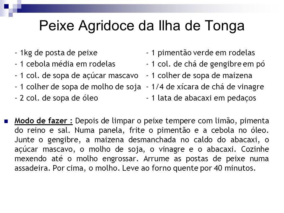 Peixe Agridoce da Ilha de Tonga