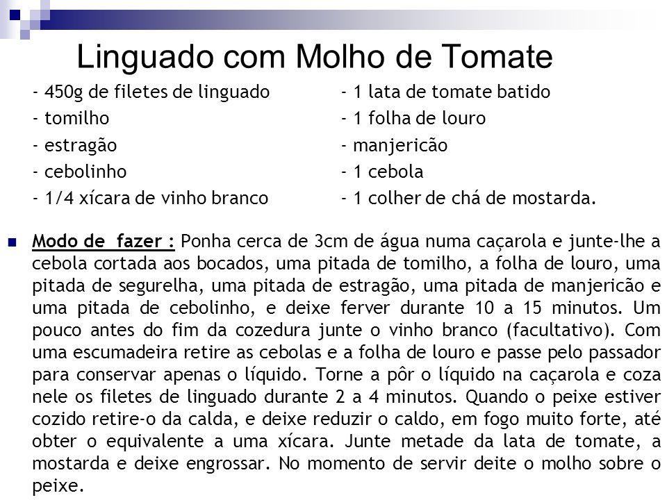 Linguado com Molho de Tomate