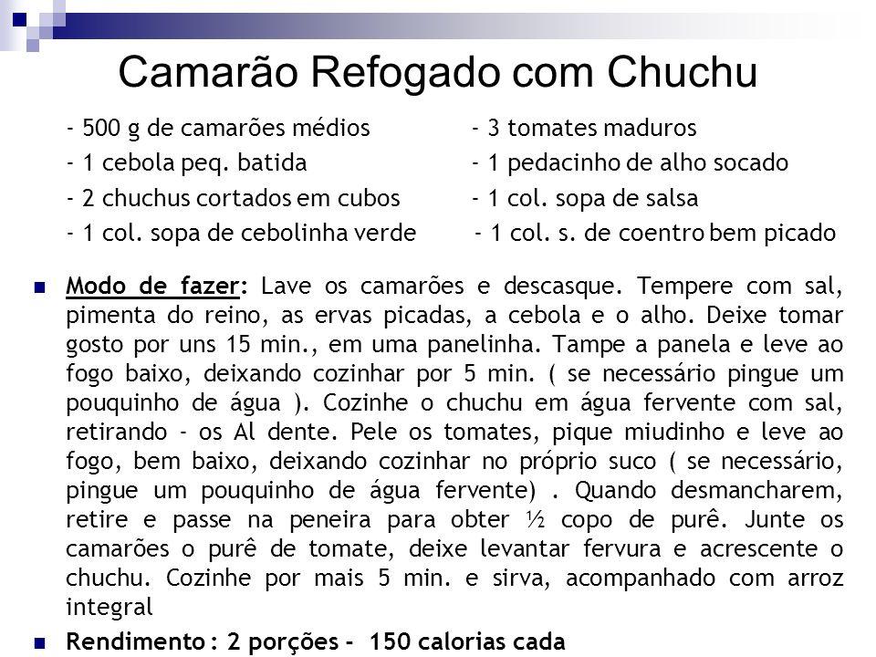 Camarão Refogado com Chuchu