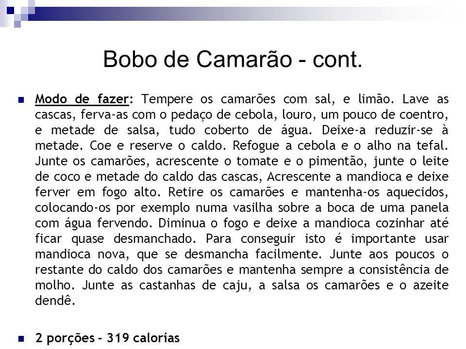 Bobo de Camarão - cont.