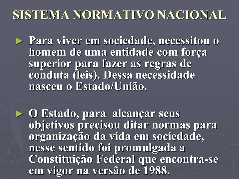 SISTEMA NORMATIVO NACIONAL