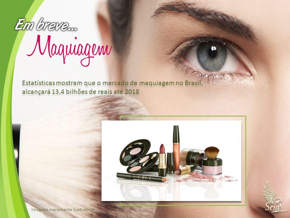 Estatísticas mostram que o mercado de maquiagem no Brasil,