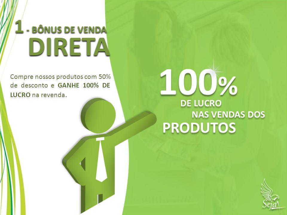 100% DIRETA 1 - BÔNUS DE VENDA PRODUTOS DE LUCRO NAS VENDAS DOS