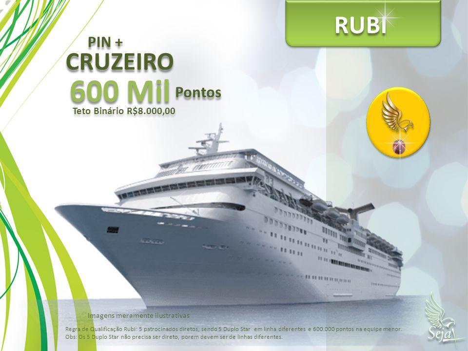 600 Mil RUBI CRUZEIRO PIN + Pontos Teto Binário R$8.000,00