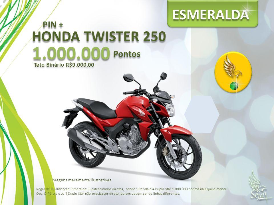 1.000.000 ESMERALDA HONDA TWISTER 250 PIN + Pontos