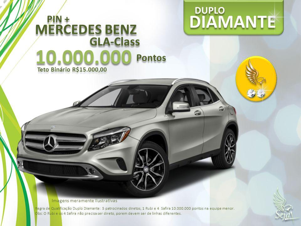10.000.000 DIAMANTE MERCEDES BENZ GLA-Class DUPLO PIN + Pontos