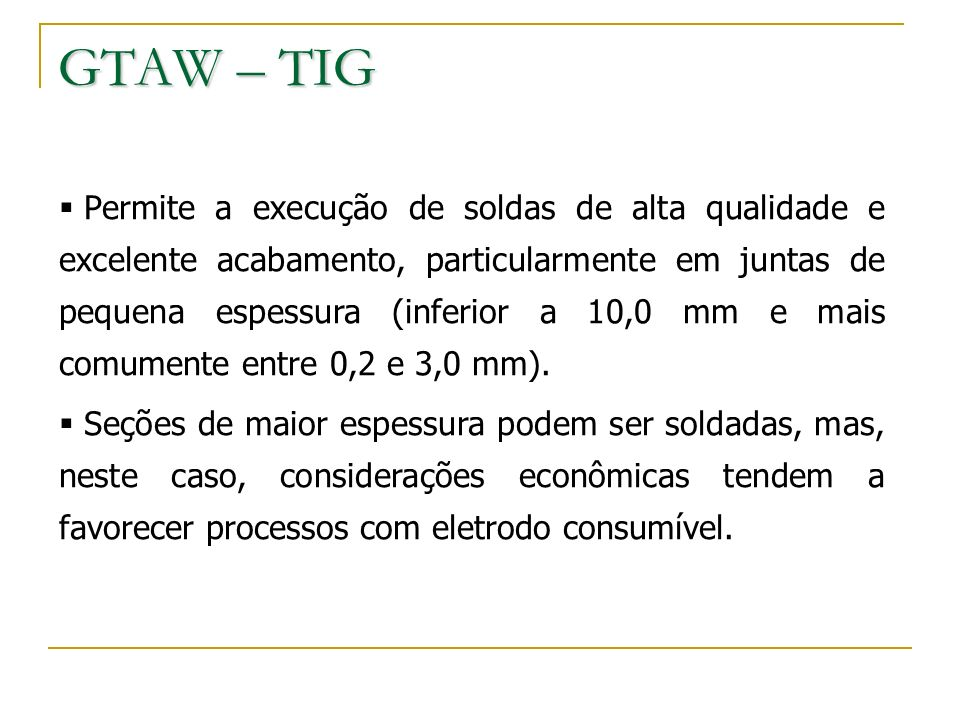 GTAW – TIG