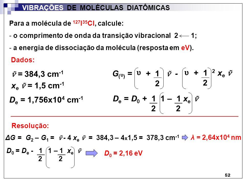 ᶹ ᶹ ṽ = 384,3 cm-1 G( ) = + 1 ṽ - + 1 2 xe ṽ ᶹ 2 2 xe ṽ = 1,5 cm-1